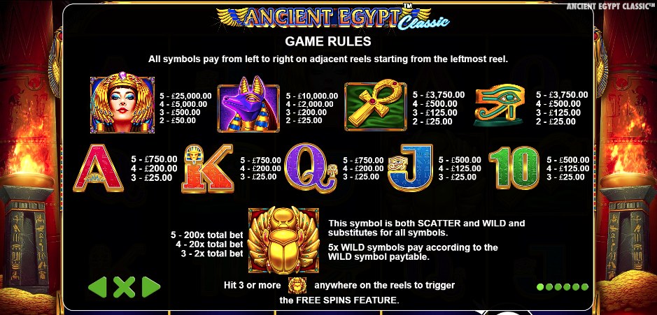 Ancient Egypt Classic free play