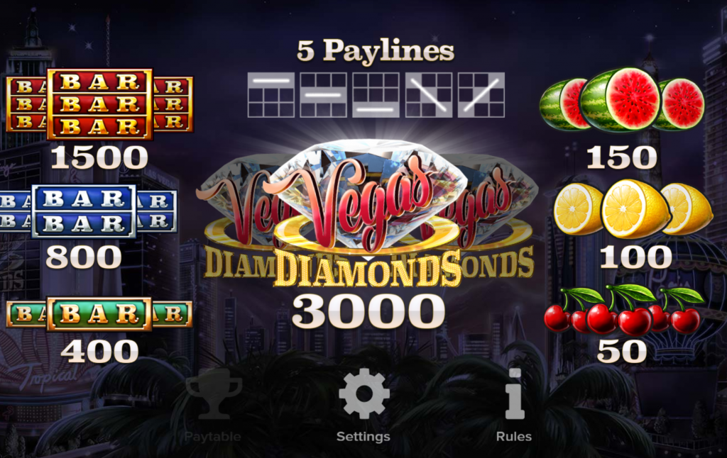 Vegas Diamonds free play