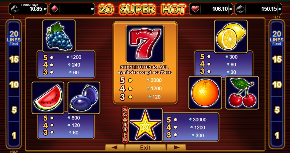 20 Super Hot free play