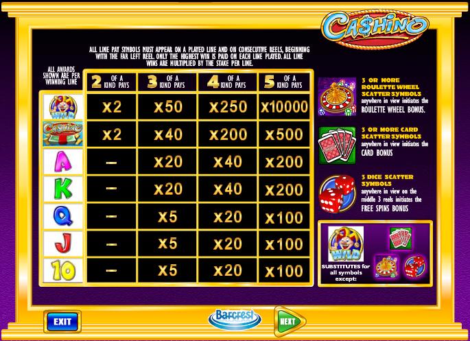 Cashino free play