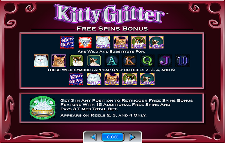play kitty glitter