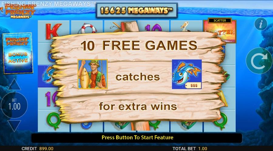 fishing frenzy megaways slot