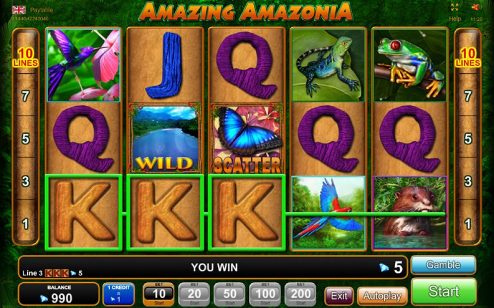 amazing amazonia slot review
