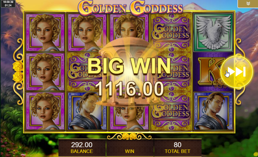 Golden Goddess Big Win