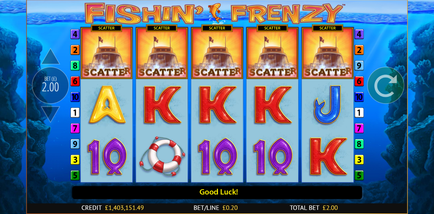 Fishin' Frenzy free spins