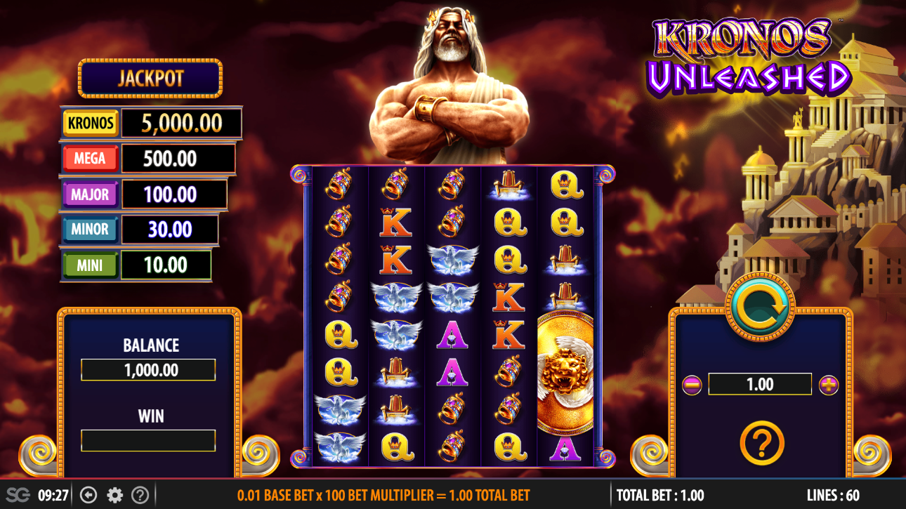 kronos unleashed free spins