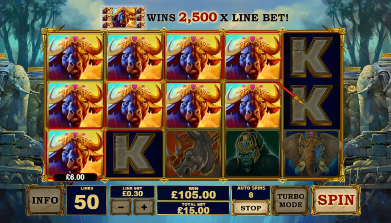 Jungle Giants slot gameplay