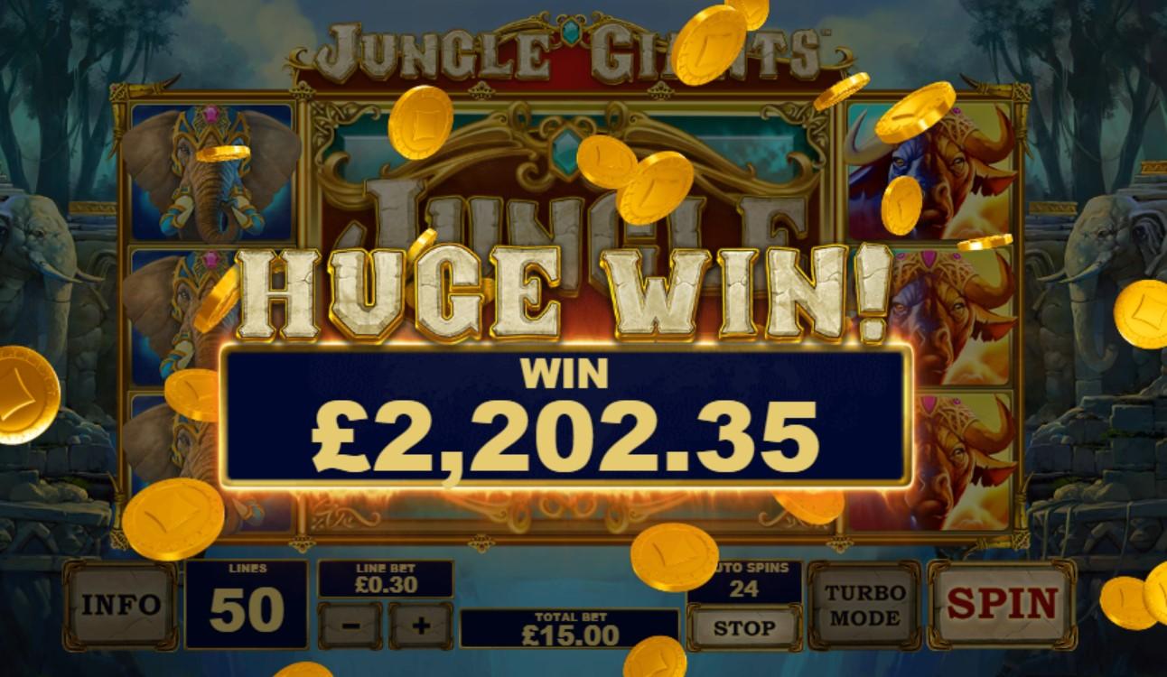 Jungle Giants Slot Huge Win