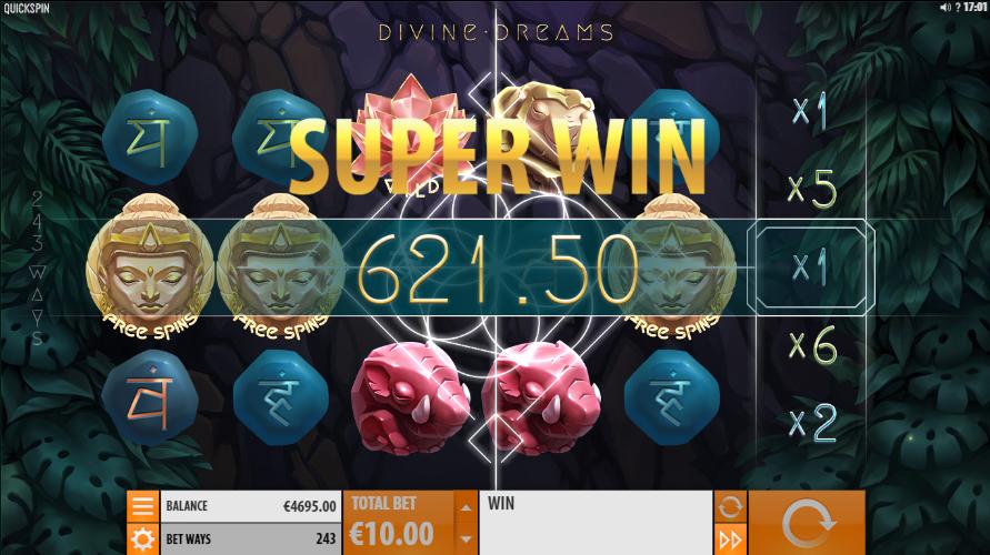 Divine Dreams Slot Super Win