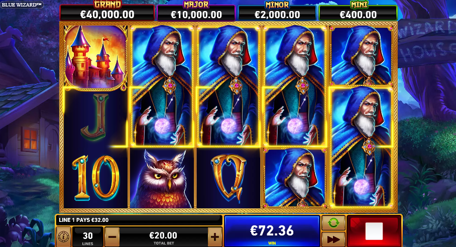 Blue Wizard Slot Big Win