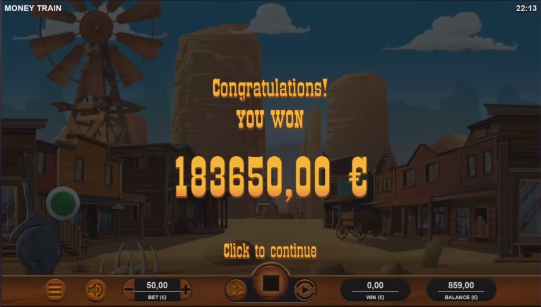 Money Train Record Win Amount