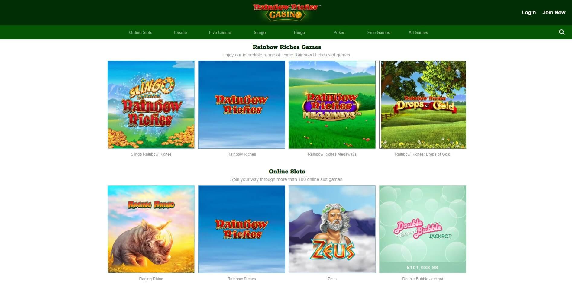 rainbow riches casino slots