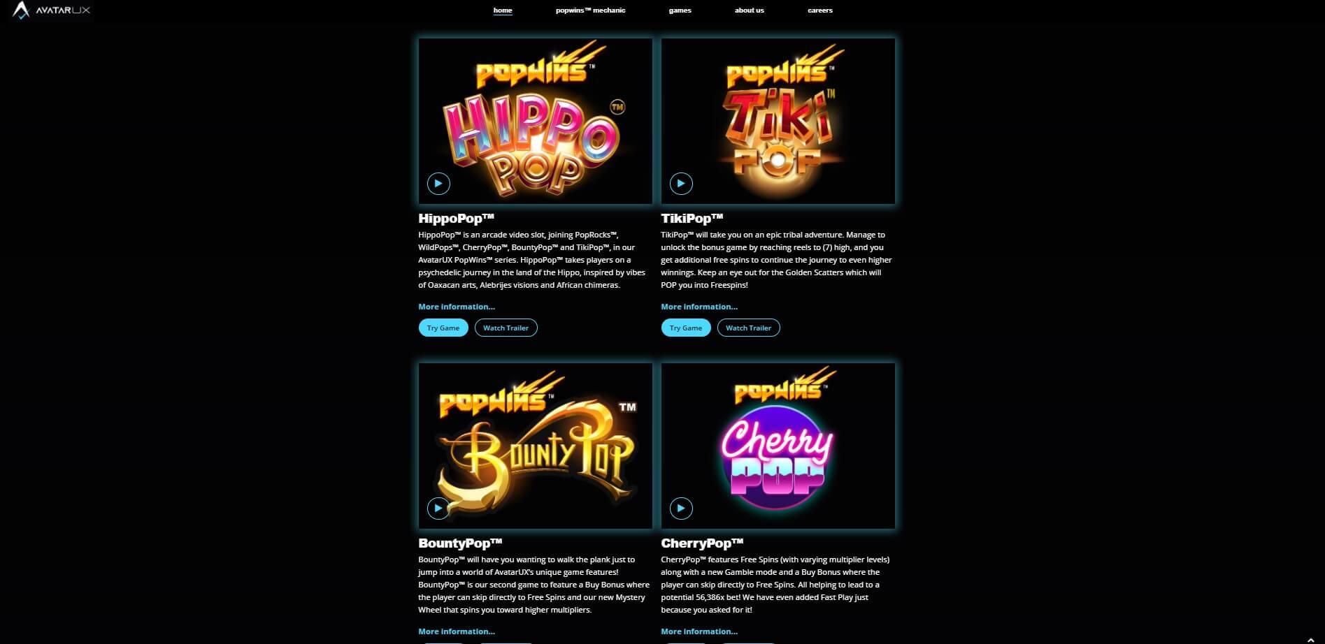 avatarux games