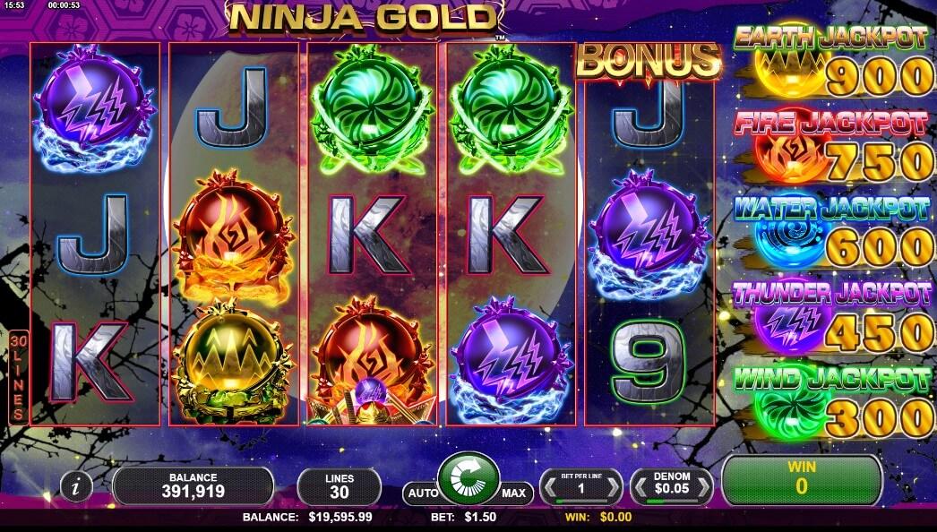 ninja gold slot