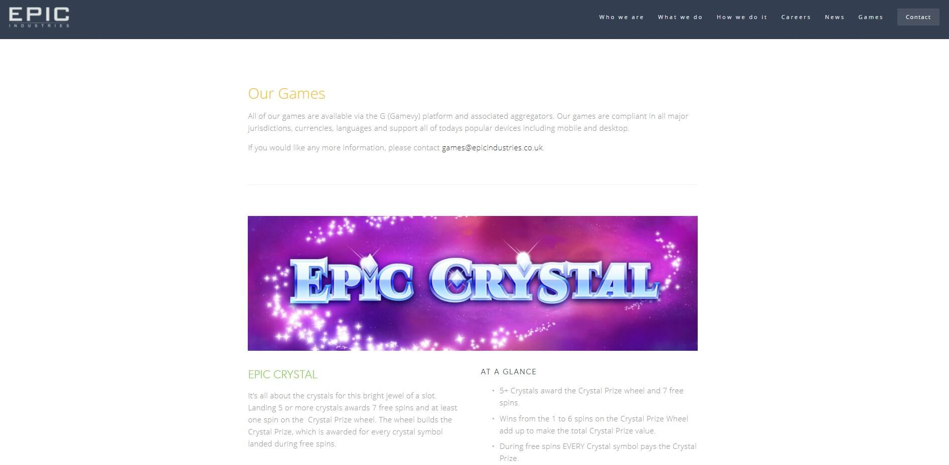 epic industries games