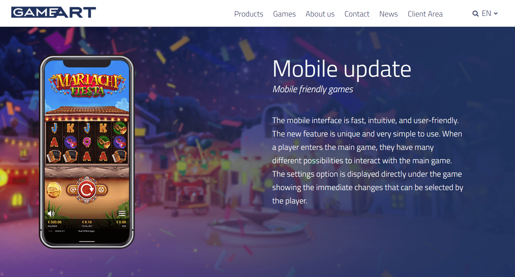 gameart mobile experience
